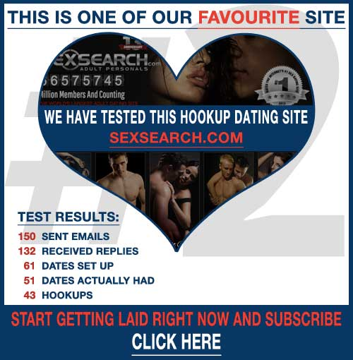 screenshot of the hookup site SexSearch